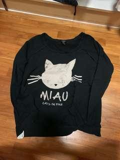 graphic cat sweater