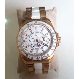 Jam GC Keramik White Gold Original