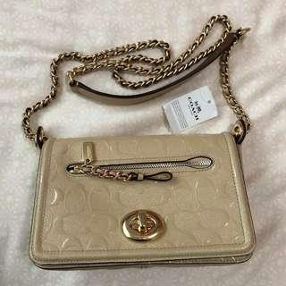 BNWT Authentic Coach Small Lex Bag in Nude