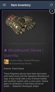 CSGO || Bloodhound Gloves Guerrilla FT