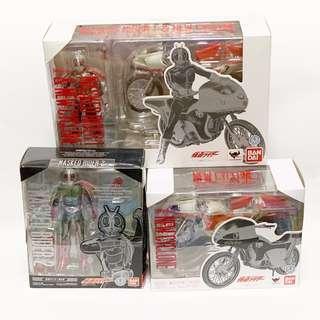 S.H.Figuarts SHF Masked Rider 1 Ichigo & 2 Nigo + New Cyclone Set [ New Suit Type ]