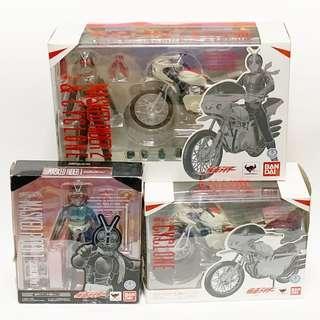 S.H.Figuarts SHF Masked Rider 1 Ichigo & 2 Nigo Sakura Jima + Cyclone Modified Version