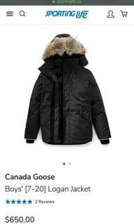 Discounted Canada goose youth Logan parka size L
