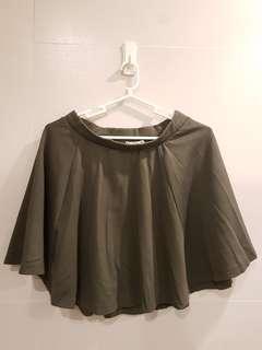 Cotton On Olive Green Skater Skirt