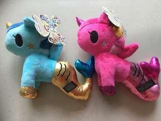 Tokidodi Unicorn Plushies ( Pink and Blue )
