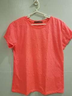 Atmosphere Neon Pink Tshirt with details