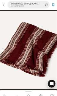 Aritzia Mixed Stripes Blanket in Balsamine