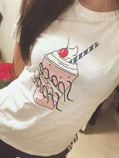 🚚 韓版冰淇淋白T-shirt