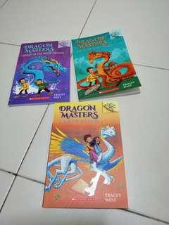Children English story book by scholastic dragon master