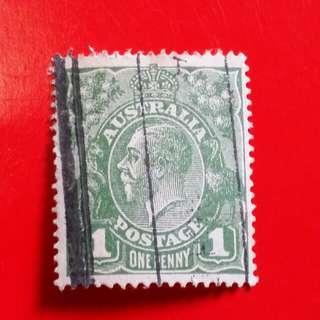 Perangko One Penny Postage Australia Stamps