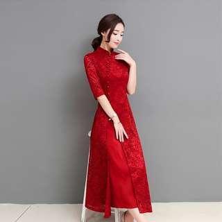 [PO] CNY Modern Lace Cheongsam