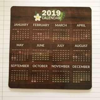 2019 calendar magnetic sticker