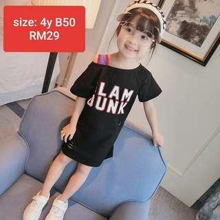 Kids girl off shoulder black dress