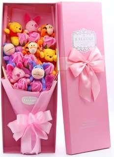 Winnie the Pooh / Eeyore / Tigger Bouquet - Valentine's Day / Anniversary / Proposal / Birthday / Farewell / Gift