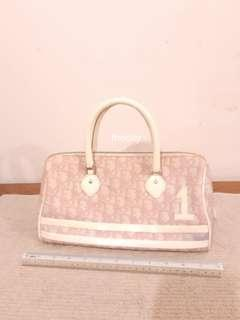 AUTHENTIC DIOR LOGO MONOGRAM BOSTON BAG - PINK - (BOUGHT AROUND RM 3000+) - RM 170 ONLY