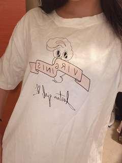 🚚 長版白兔兔T-shirt