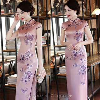 Floral Midi Cheongsam Dress