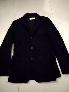 Chocoolate 黑色燈芯絨西裝型外套