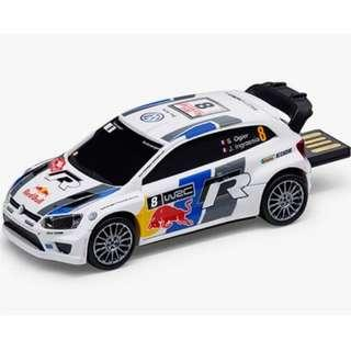 Volkswagen Polo R WRC diecast model car with retractable USB thumbdrive