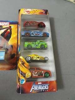 Hotwheels Marvel Assemble 5-pack
