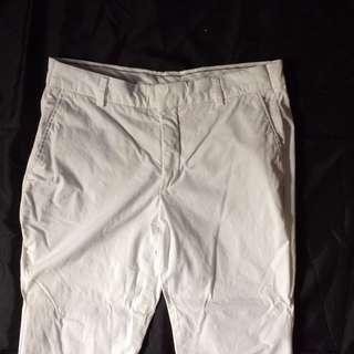 Uniqlo White Chino Pants
