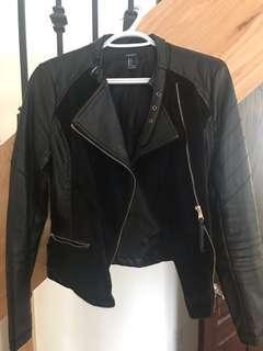 Faux fur & leather jacket