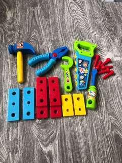 🚚 哆啦A夢塑膠工具組