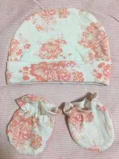 Laura Ashley Baby Mittens & Bonet