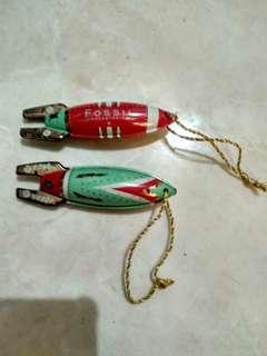 fossil rocket keychain rare