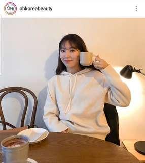 [99%新] Ohkoreabeauty Knit HoodieIvory 有帽羊毛冷衫衛衣 made in korea