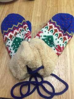 冰天雪地暖笠笠掛頸手套