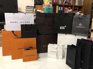 Luxury branded paper bags