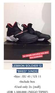 (VNDS) Lebron Soldier 12 Bred