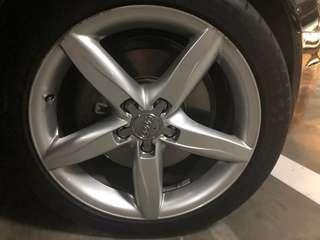 "Original 18"" Audi Rims With PSS"
