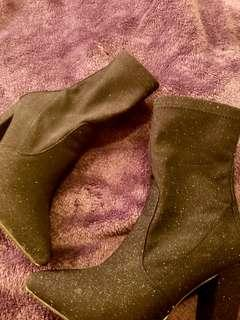 Just Fab Glittery Boots size 8