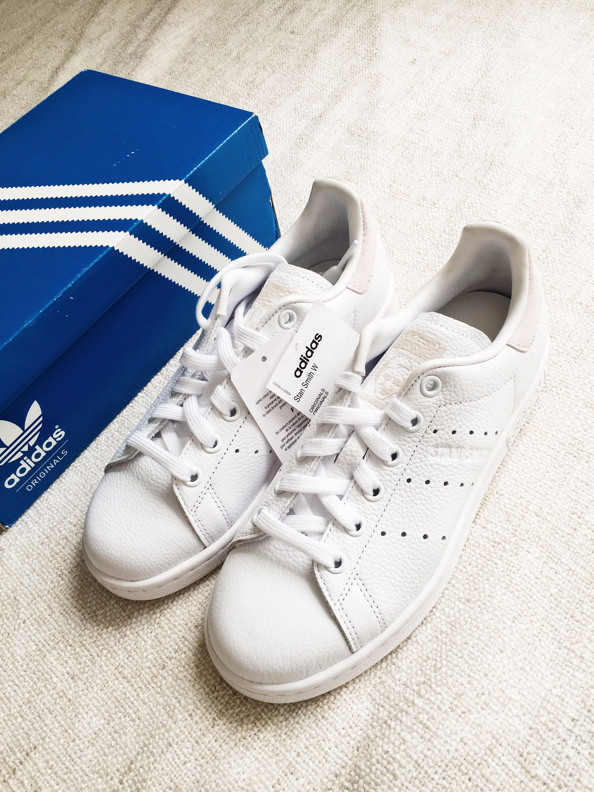 promo code 944f4 93a2e Adidas Originals Stan Smith W White Orchid Tint Women Shoes B41625 ...