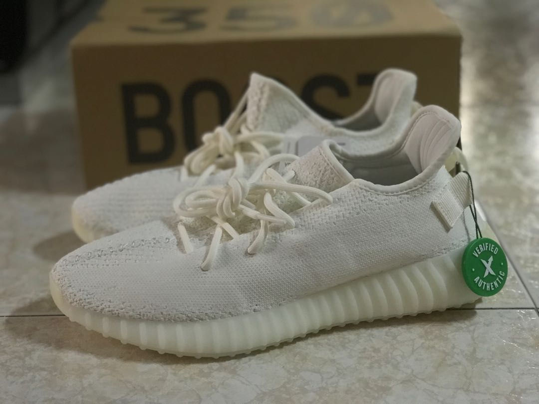 100% authentic 5731d 57a52 Adidas Yeezy Boost 350 V2 Cream White, Men's Fashion ...