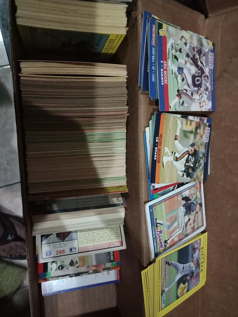 American 90s Baseball And Football Cards Selling As Set On