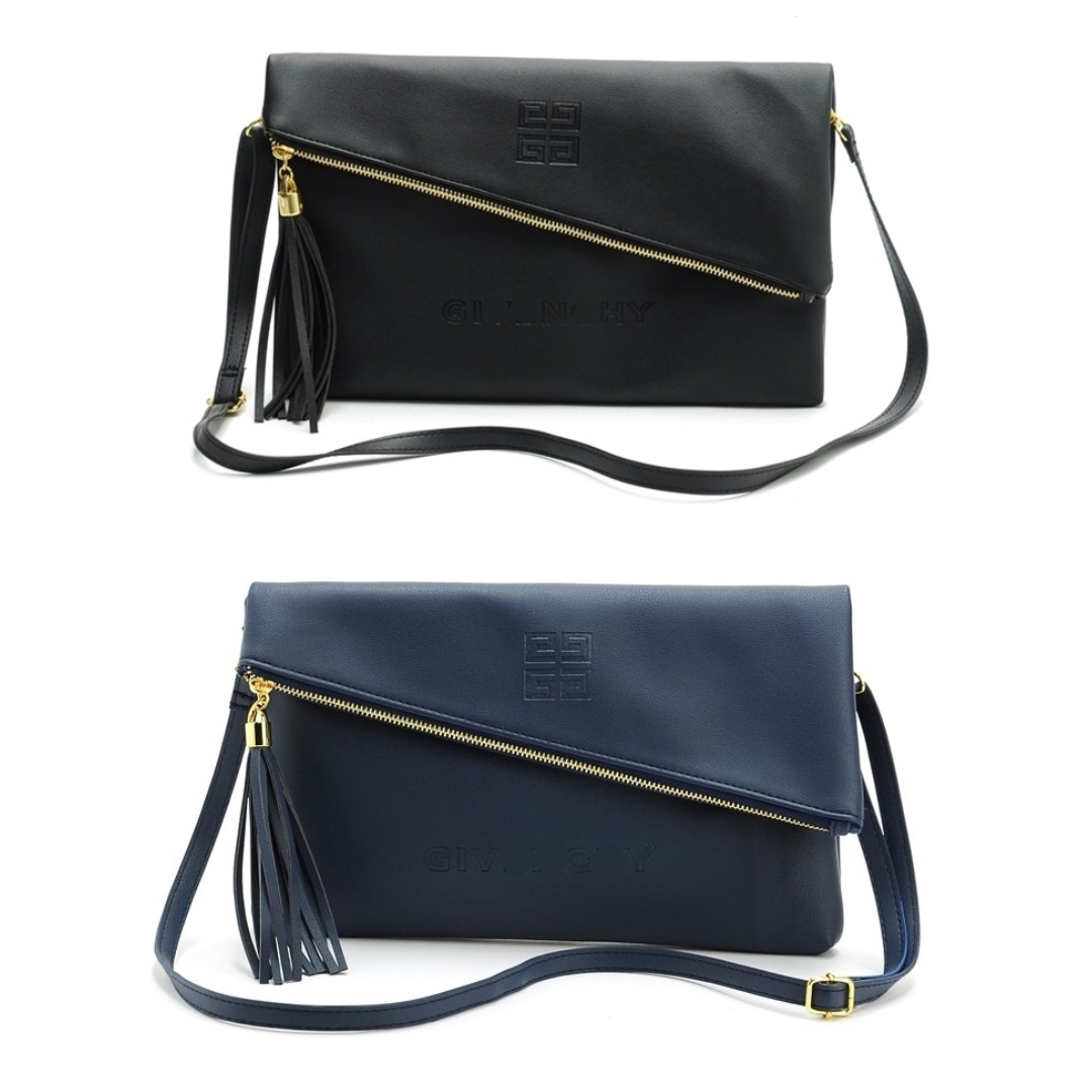 f4d8b45e7e0 Instock! GIVENCHY PARFUM (Black, Navy) Crossbody Clutch Envelope ...