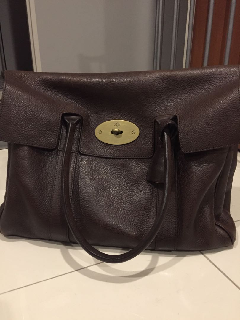 00b018fc37 Authentic Mulberry Bayswater Bag in Chocolate