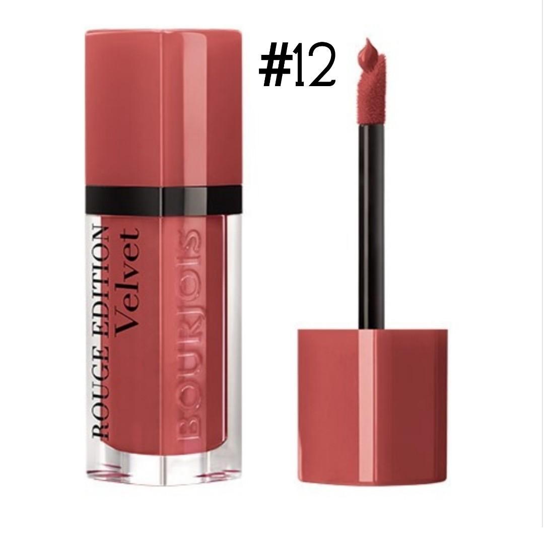 Bn bourjois #12 rouge edition velvet beau brun
