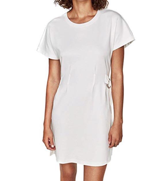 Buckled T-shirt Dress