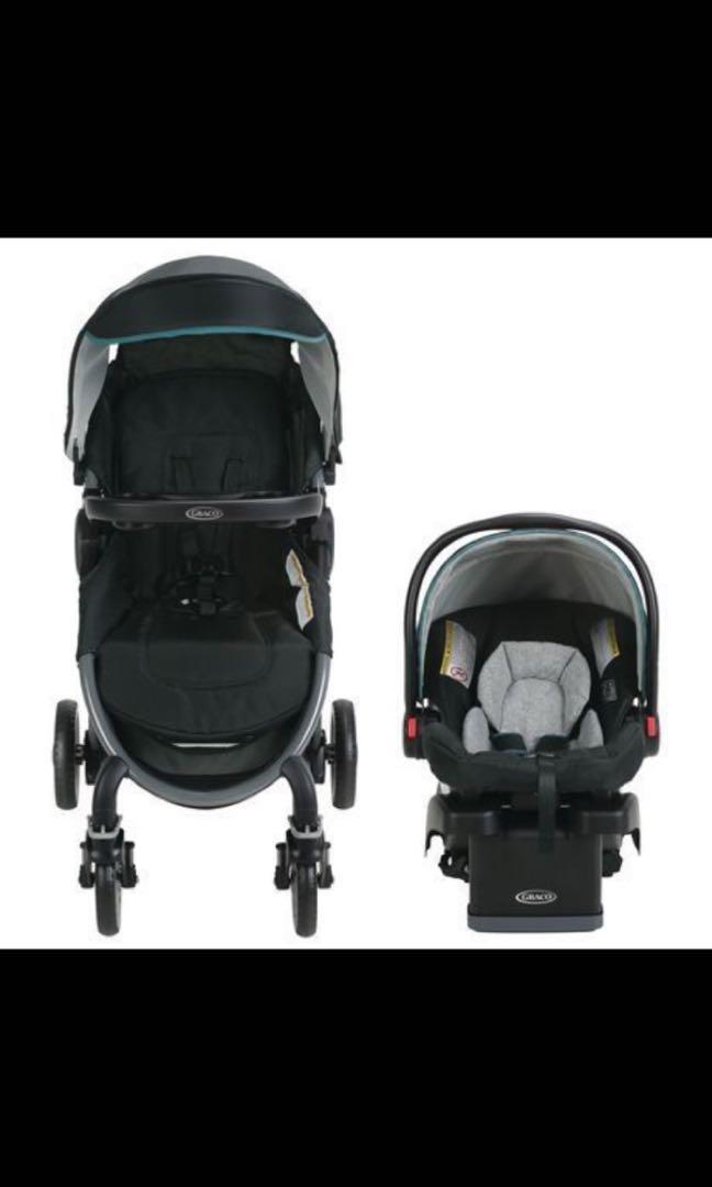 Car seat, base & stroller