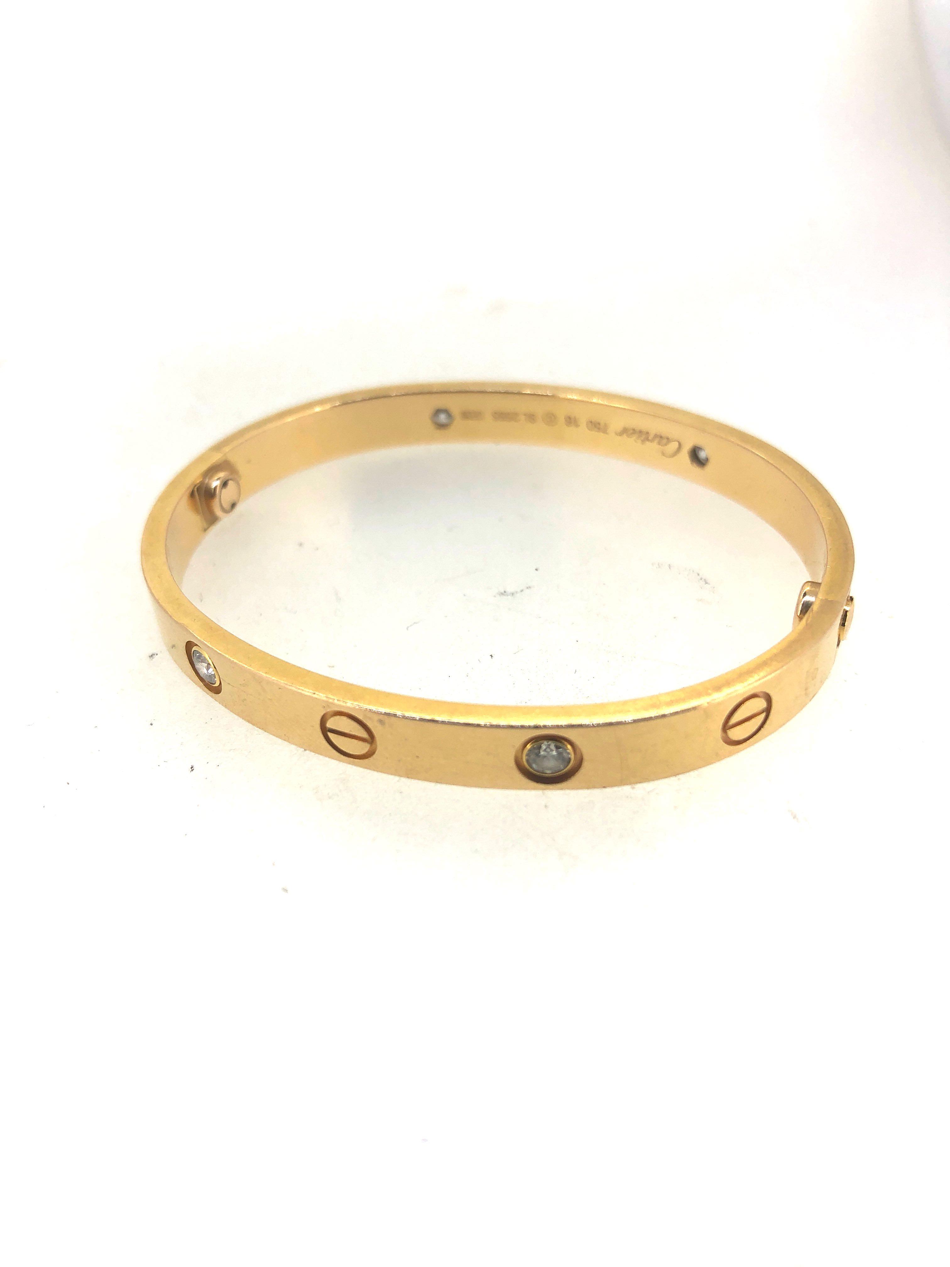 a1b052d5a1244d Cartier Love Bangle 4Dismond, Women's Fashion, Jewellery, Bracelets ...