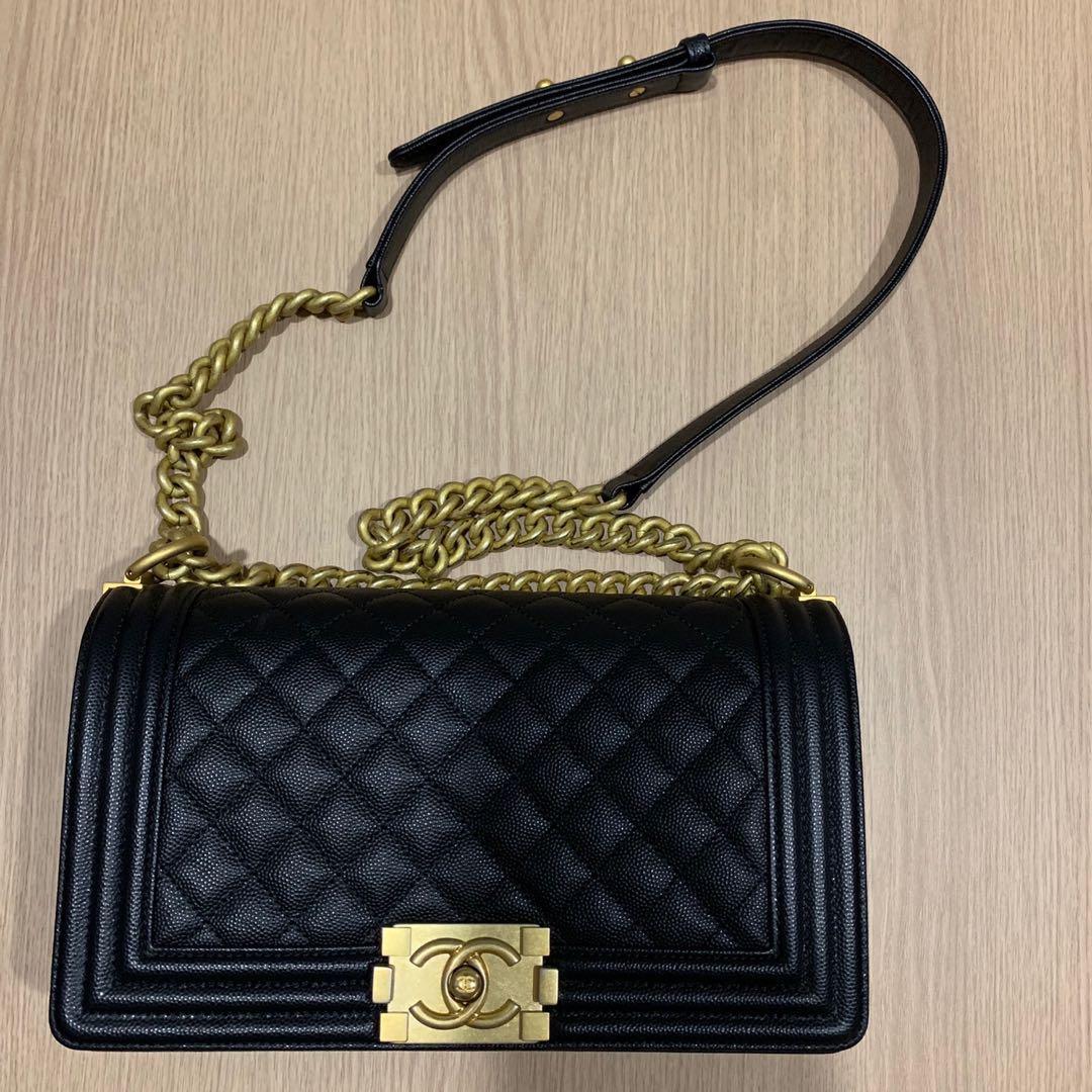 7ed29d59d791 Chanel Boy Black Medium, Luxury, Bags & Wallets, Sling Bags on Carousell