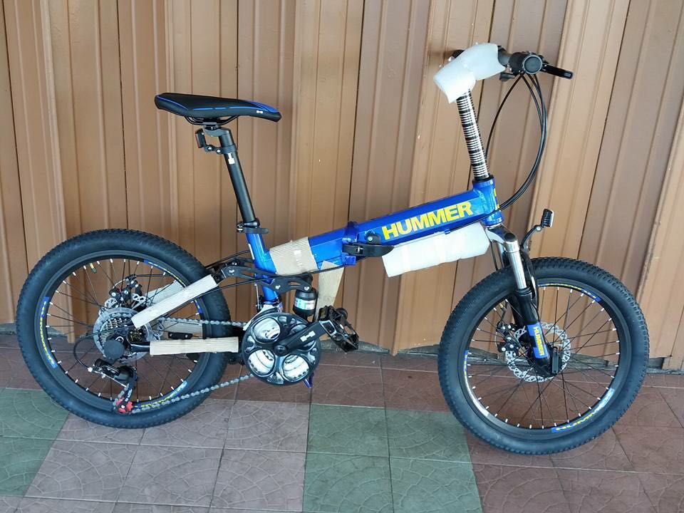 cf68474792c CHIN Folding Bike 20er Hummer Alloy Shimano 21 SPEED Full Suspension,  Sports, Bicycles on Carousell