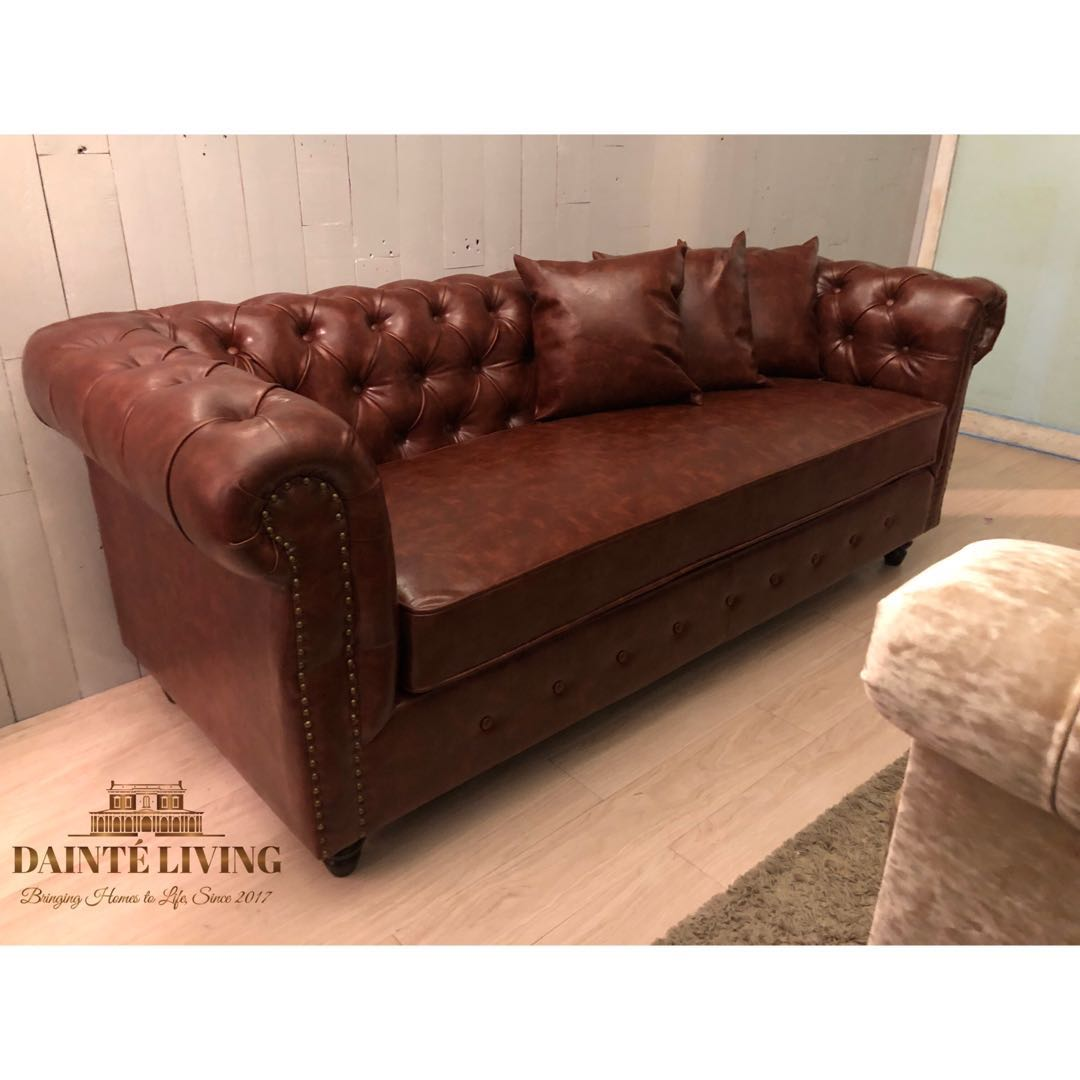 Classic Chesterfield Sofa In Stock Furniture Sofas On Carousell
