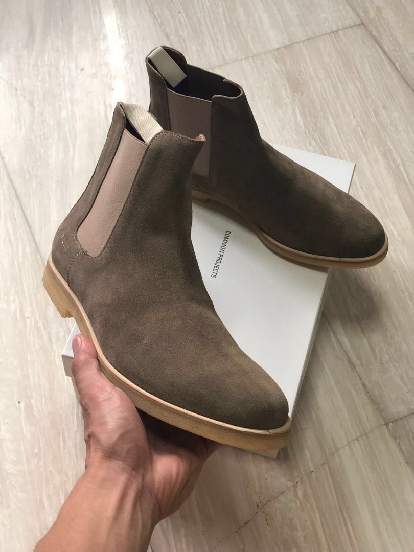7730abd718db2 Common Projects Chelsea Boots - Taupe Suede