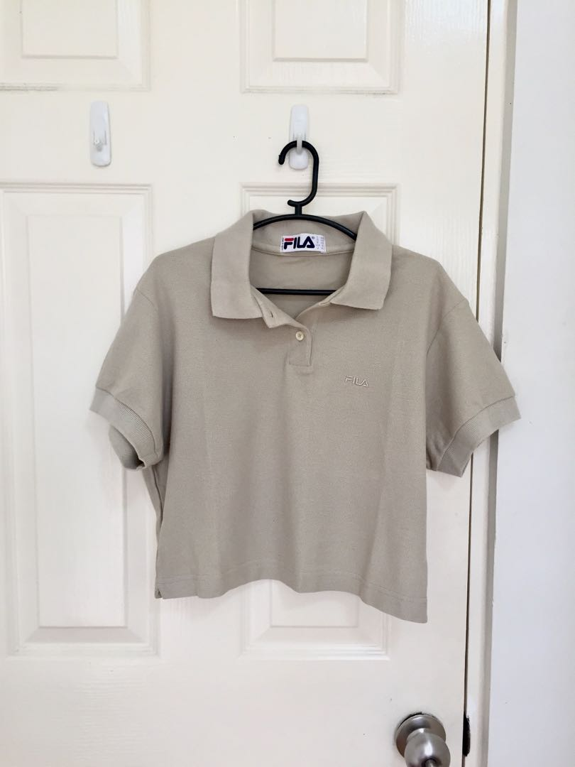 5bf9c3abedb Fila cropped polo shirt, Women's Fashion, Clothes, Tops on Carousell