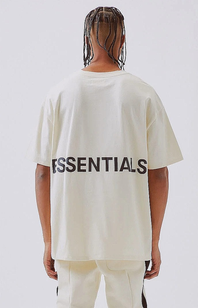 e093f2a4e FOG Essentials Boxy Tee - White - XL, Men's Fashion, Clothes, Tops ...